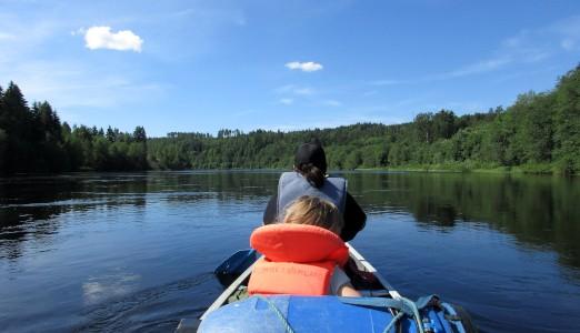 Familien Hansens første tur i vildmarken